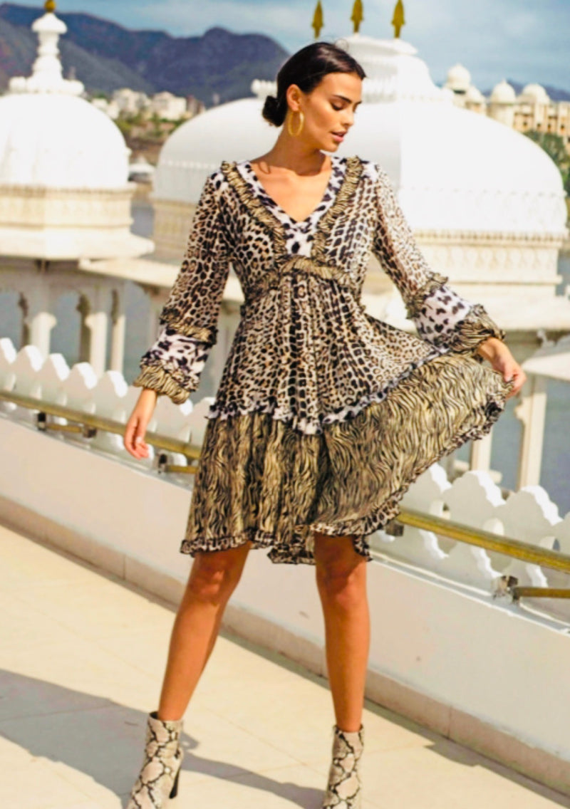 Miss June animal Print mini Dress Biba