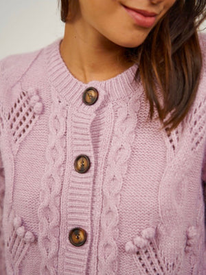 Knit Cardigan Dana with mini bobbles