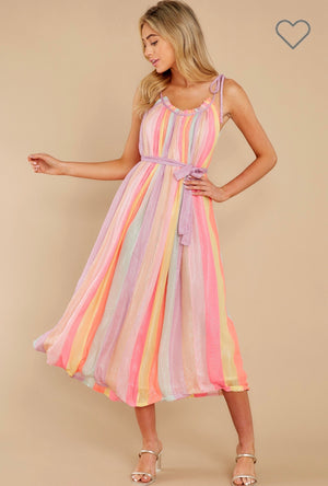 DRESS BARBARA IN MARABELLA MIX RAINBOW