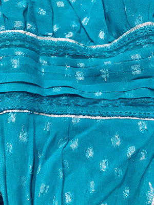Maxi dress Orlean in Turquoise Lurex