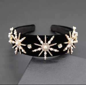 Statement Embellished Head Band Sunny