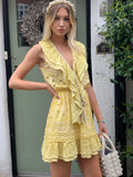 Yellow Ruffle mini dress Palma
