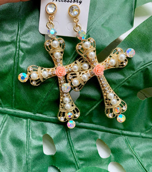 Cross Embellished earrings
