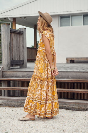 Jaase Poet Print Maxi Dress Ina