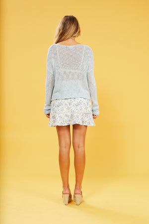 Josie Loose knit jumper in baby blue