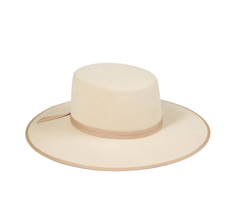 Ivory Rancher Wool Boater Hat