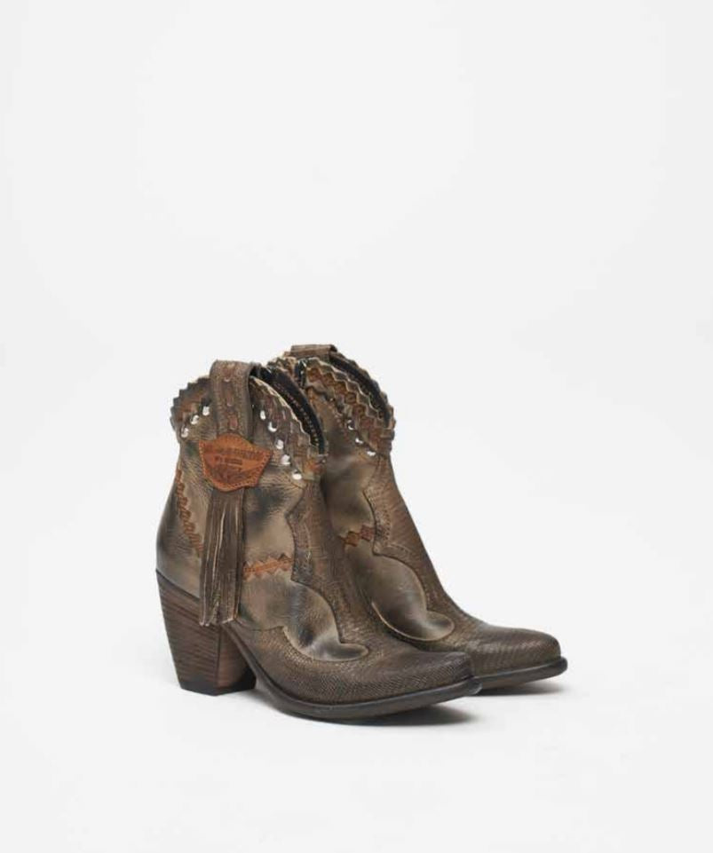 Leather Ankle Boots Ivy Rider Mud