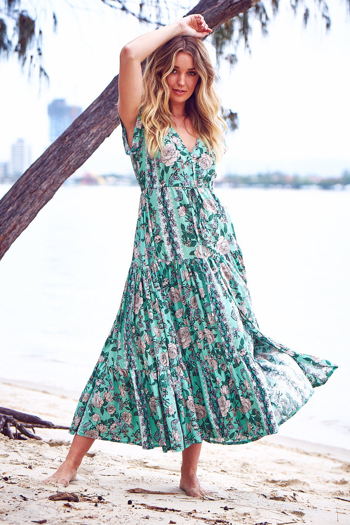 Melissa Maxi Dress in Venice Print