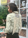 Antica Sartoria Denim Jacket Festival in vintage taupe color