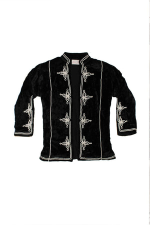 Miss June Jacket Fezz in Velvet Black