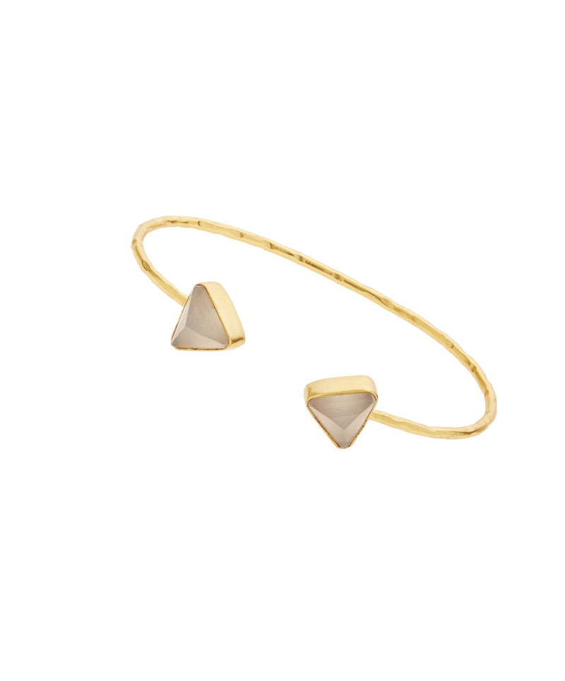 Ashiana Paris Bangle - Grey Chalcedony
