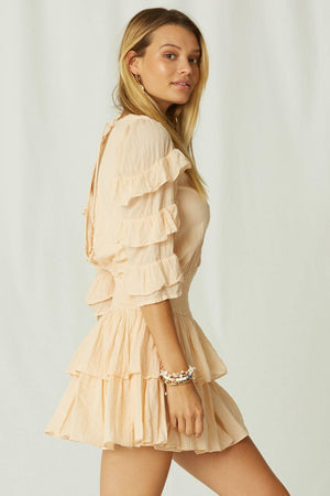 Jen's Pirate Booty Lindeza Mini Dress in peach
