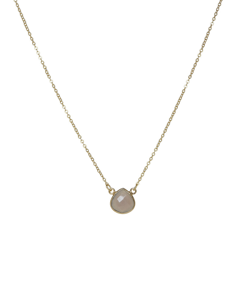 Ashiana Cosmos Necklace - Grey Chalcedony