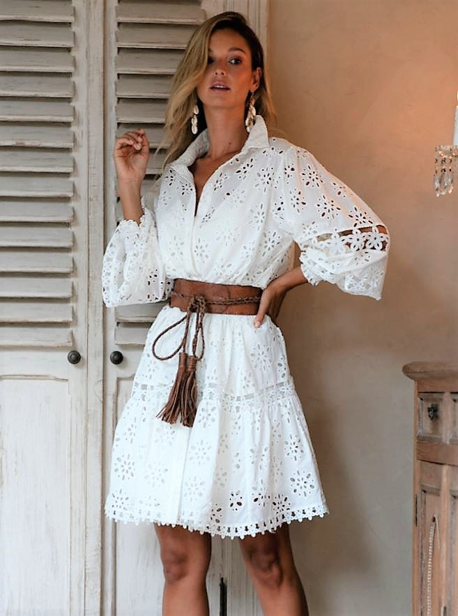White Miss June Shirt Dress Juliet