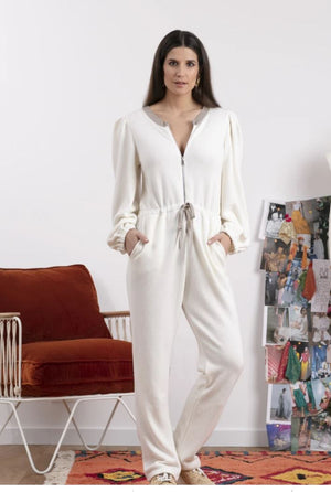 SUNDRESS Cashmere blend Off White knit Jumpsuit June