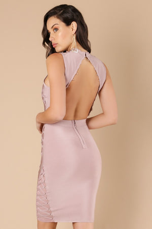 Wow Couture Willa Open Back Bandage Dress