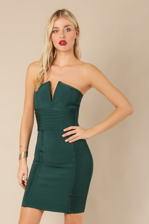 Wow Couture Bandage Dress Wow couture hunter green