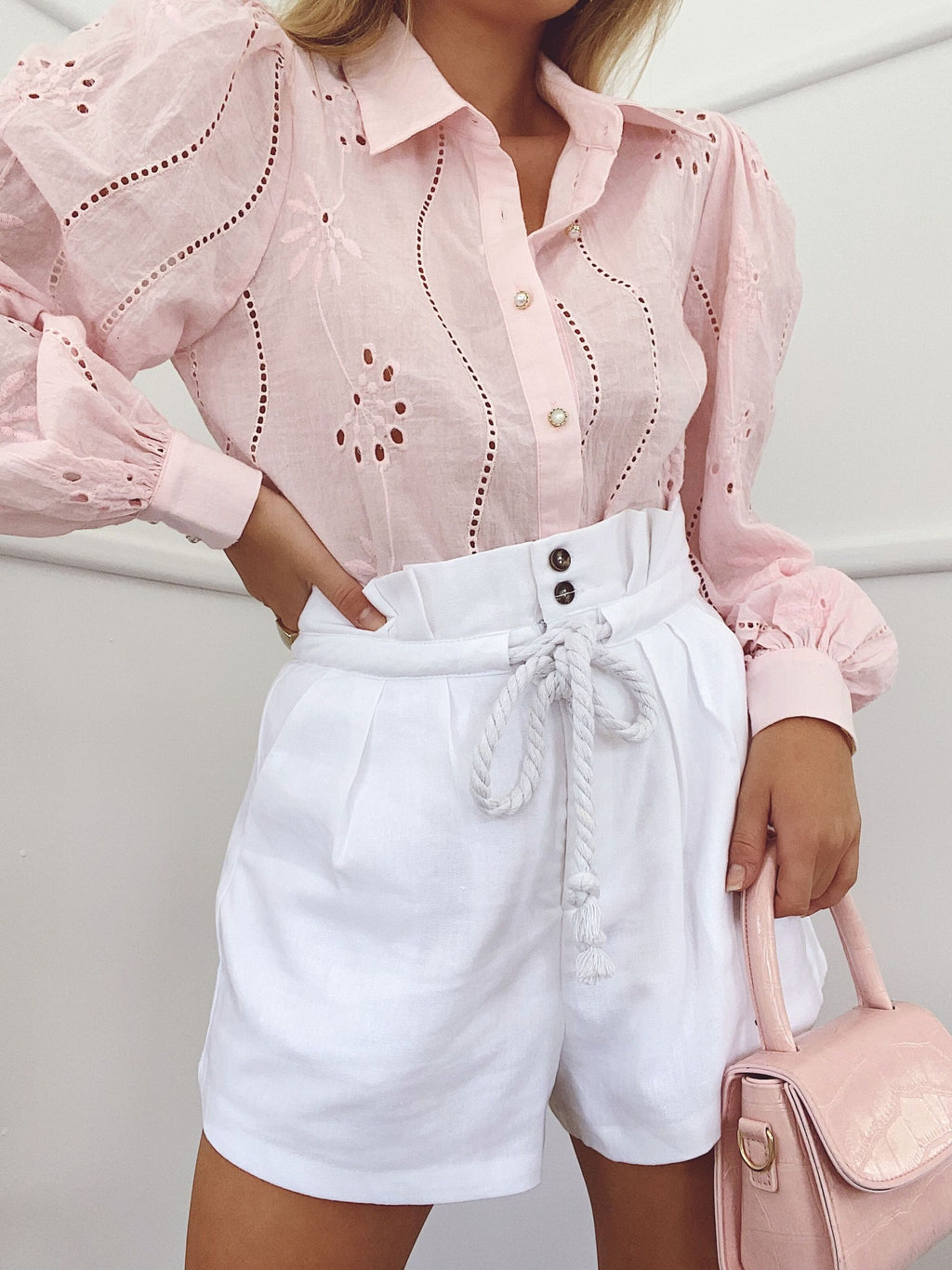 Embroidery Knowles Blouse in Pink