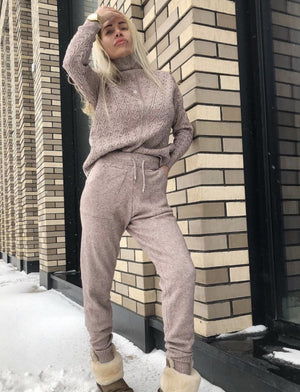 Knitted turtleneck tracksuit Tilly