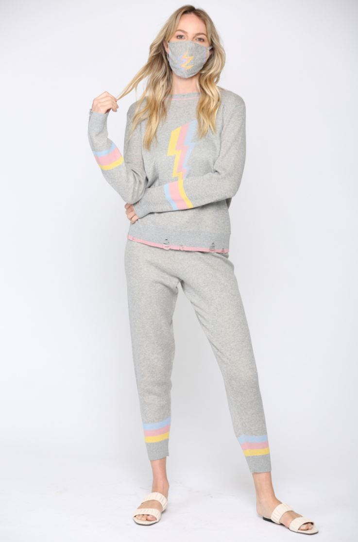 Tracksuit Rainbow Lightning with matching facemask (Pre-order)