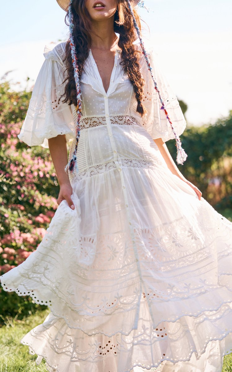 Titania Eyelet-Embroidered Cotton Maxi Dress (Pre order)