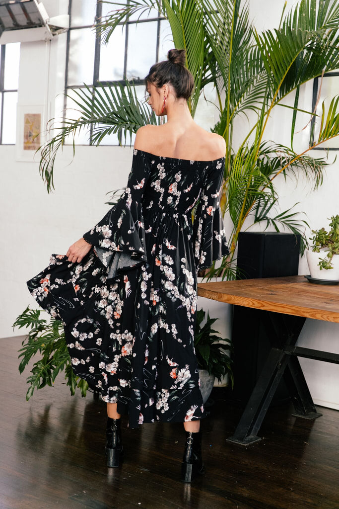 Jaase Off Shoulder hi Low Dress Lilo