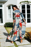 Jaase Maxi Dress Indiana in MArinePrint