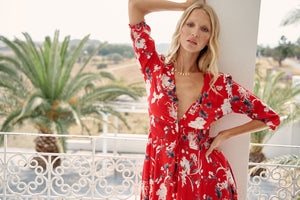 Jaase Maxi Dress Indiana in Rene print