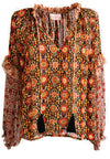 Print Top Agra with balloon sleeves