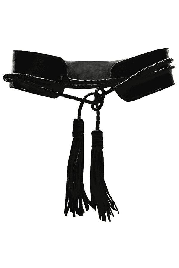 Miss June Leather Wide Waist Belt