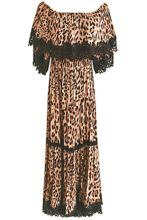 Animal Print Maxi Dress Kayla