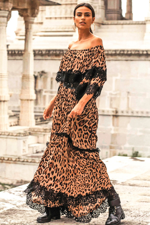 Miss June Animal Print Maxi Dress Kayla