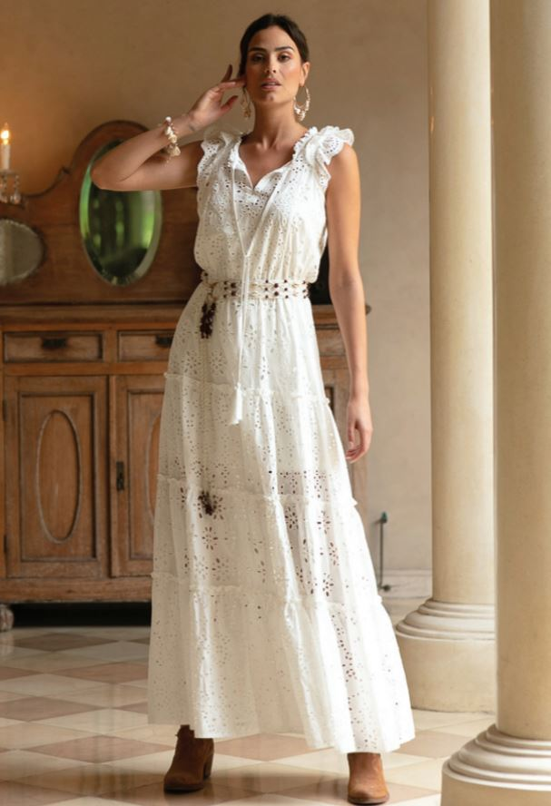 Moonshine Broderie Anglaise maxi dress