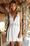 Miss June White Mini Dress Lola with Broderie Anglais