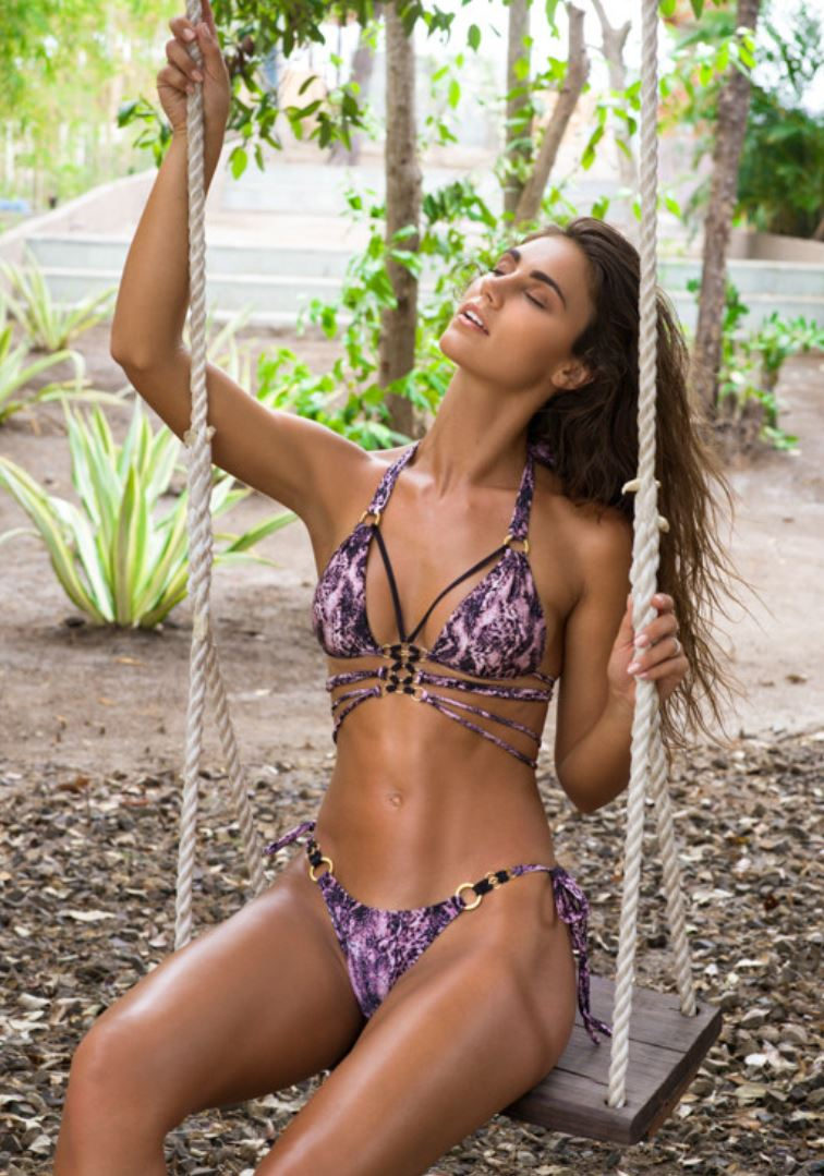 Snakeprint Triangle Bikini Mystique