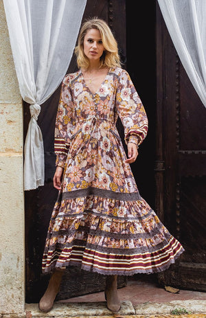jaase Lela Maxi Dress in Alba Print