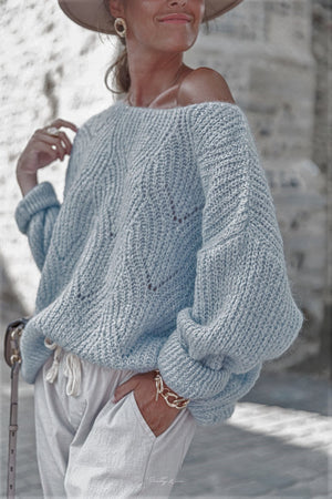 Blue Knit Oversized jumper Anna