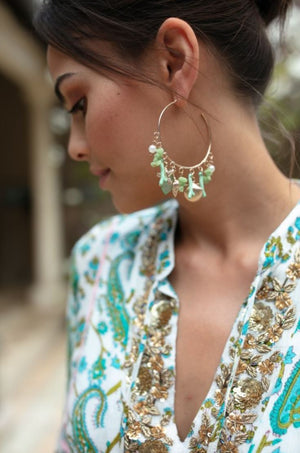 Miss June hoop Earrings
