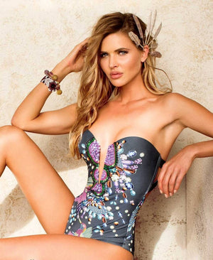 Mediterranean One Piece Swimsuit | Paradizia Swimwear