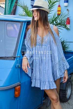 Poncho Top Sonria in Blue