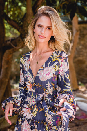 Mini Dress Caprio in Bloom Print