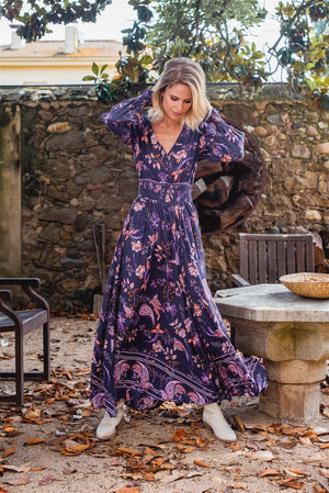 Rae Maxi Dress in Luna Print