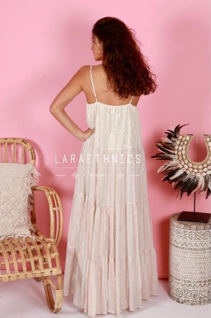 Maxi Dress Magnifica in Lurex Ivory