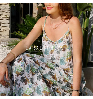 Maxi Dress Magnifica in Panther Print