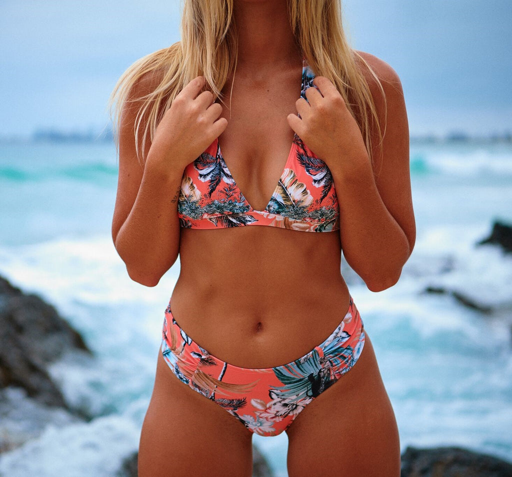 Jaase Hawaii Peach Print bikini bottom Airlie