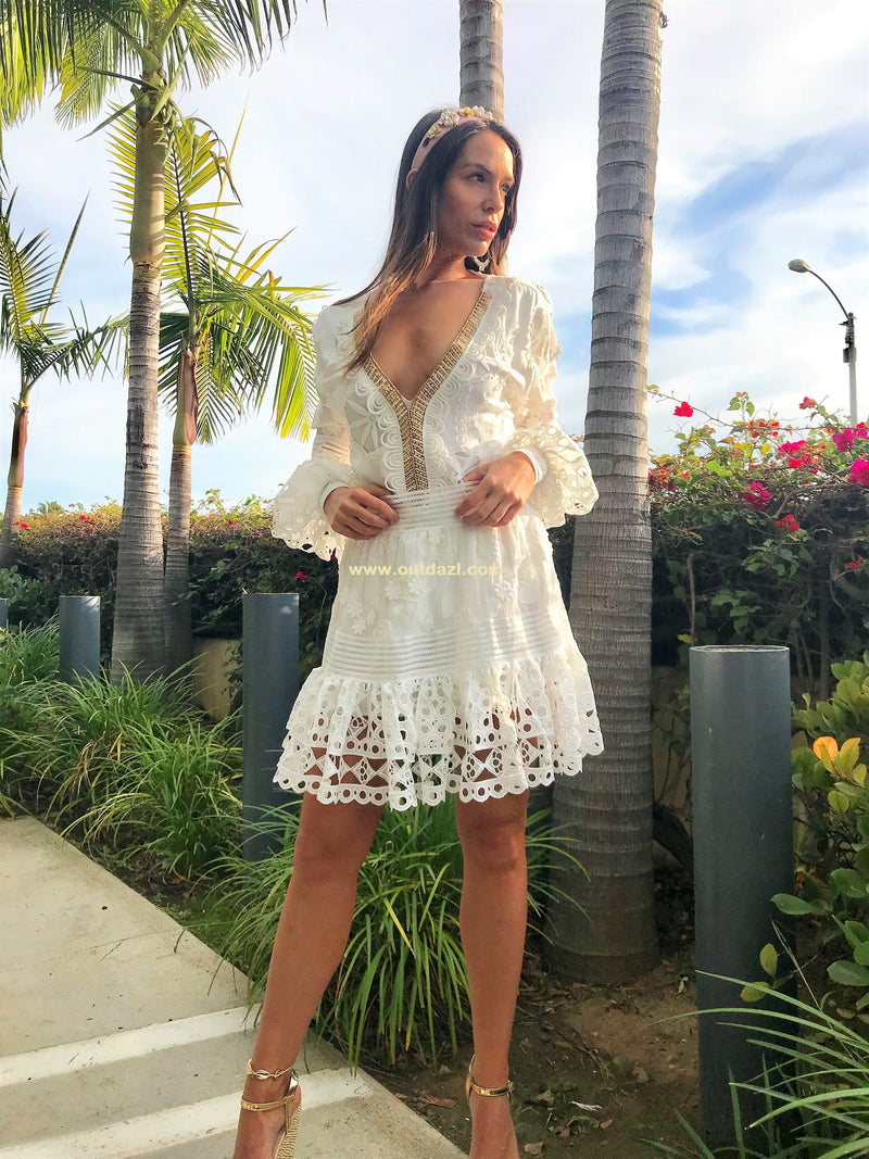 Embroidered Top Miss Zimmer in White