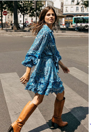 Miss June Print Shirt Dress Sianna