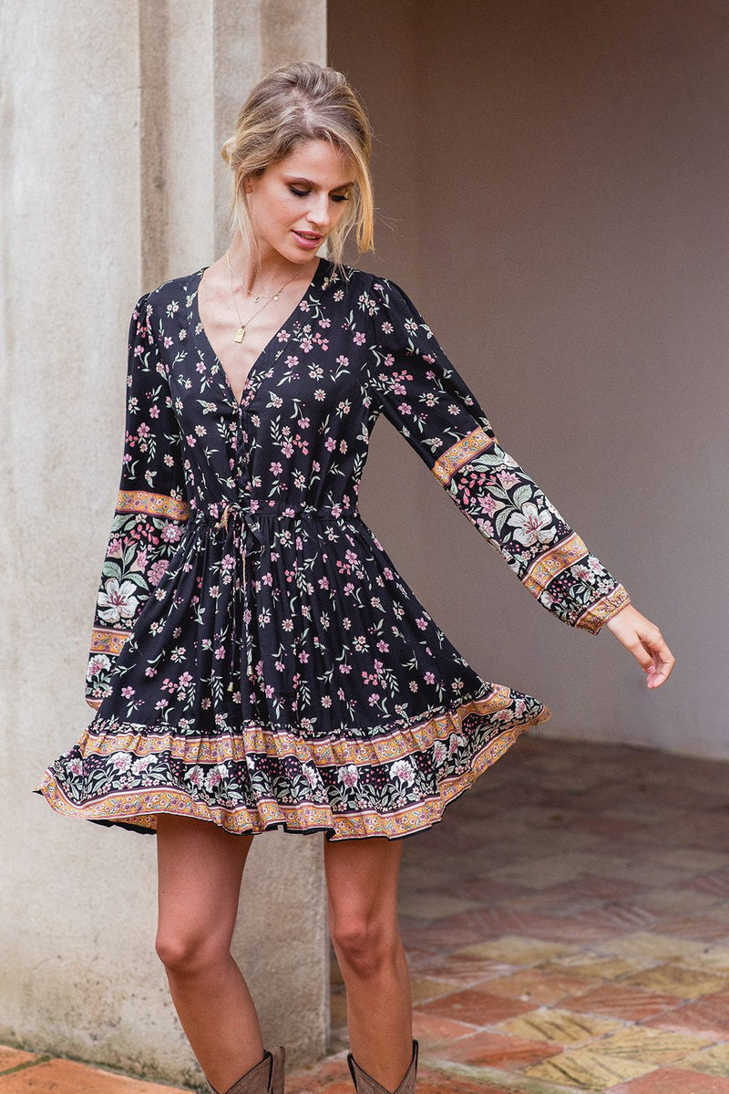 Jaase mini dress Sky in eternity print