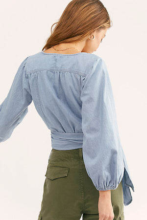 Sophie Denim Wrap top
