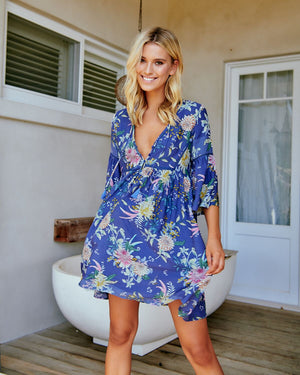 Jaase Aylee Dress in Acai Print | Jaase